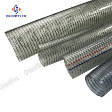 PVC spiral steel wire reinforced transparent hose/pipe