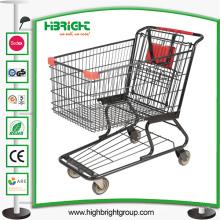 Carro de compras de supermercado de estilo americano con buenas ruedas