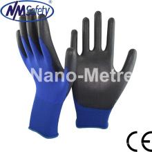 Nmsafety Profesional PU guante de trabajo revestido de mano