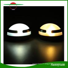 Produits d'éclairage extérieur de demi-lune Mur de lampe de mur de barrière de jardin d'énergie solaire de LED