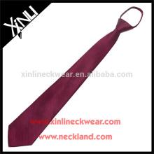 100% fait à la main noeud parfait hommes gros cravates en soie avec fermeture à glissière