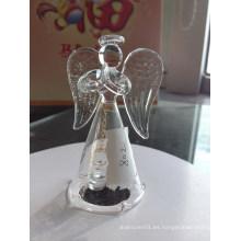 Venta al por mayor de los tarros de Bell de cristal claros con diseño del ángel