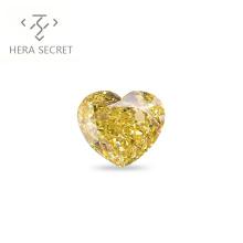 ForeverFlame fancy yellow 6.5ct 12mm*10mm vvs Heart Cut diamond CVD CZ Moissanite 18k haute couture fashion ring