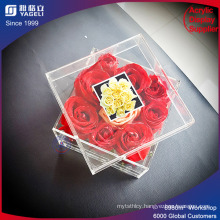 Wholesale Fashion Clear Preserved Flower Box