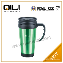 16oz your own plastic travel mug with different color