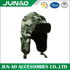 Winter wholesale wooly customized snow cap