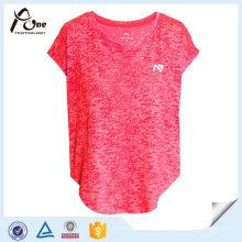 Feuchtigkeitstransport Damen Shirts Großhandel Fitness Wear