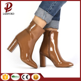 Patent leather Ladies Short Ankle fashionable boots