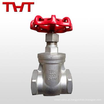 aço inoxidável 316 junta roscada válvula de abertura nrs resiliente