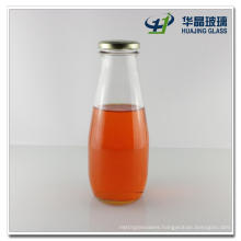800ml Big Volume Glass Beverage Bottle, Glass Fruit Juice Bottle with Metal Lid