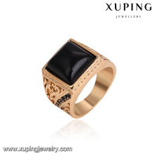 14769 hot sale noble decorative patter square shape new style 18k gold finger ring