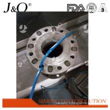 Soupape de pincement en acier industrielle satinless de DIN