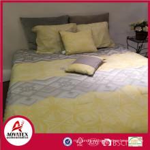 Алибаба горячие продать простыня полиэстер микрофибра кровать комплект с застежкой-молнией,5шт микрофибры Пододеяльник