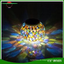 Im Freien wasserdichte angetriebene Farbe, die Nachtlicht-Mosaik-Glasball-LED-Lichter-Tabellen-Lampen für Haus- und Festival-Geschenk ändert