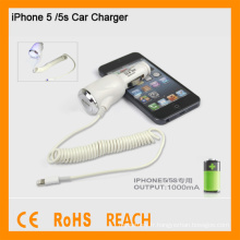 Chargeur voiture haute qualité pour iphone5 / 5s Chargeur voiture