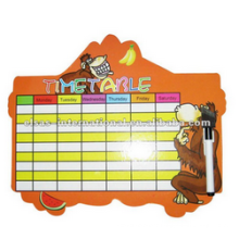 kids white board with movable time top white table board