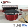 Aluminum Ceramic Marble Induction Deep Casserole Stock Pot With Glass Lid