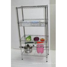 Многофункциональная корзина для кухонной мебели из металла для хранения фруктов / овощей (BK6035120B4CR)