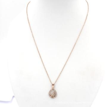 Розовое золото Chain Water Drop Charms Ювелирные изделия ожерелье