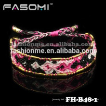 Pulseras de la amistad tejida colorida de Guangzhou FASOMI