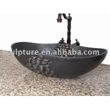 antique copper/metal sink wash basin for hotel/home