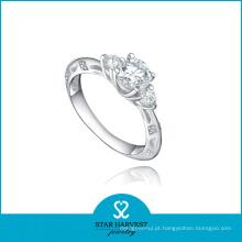 Hot Channel Setting 925 anel de prata esterlina em estoque (R-0497)