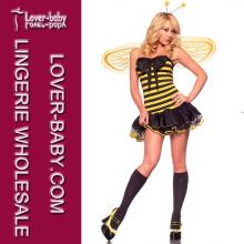 Vestido de abelha Sexy Bumble para traje adulto adulto de Halloween (L15278)