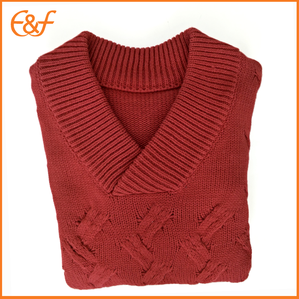 Heavy gauge sweater vest