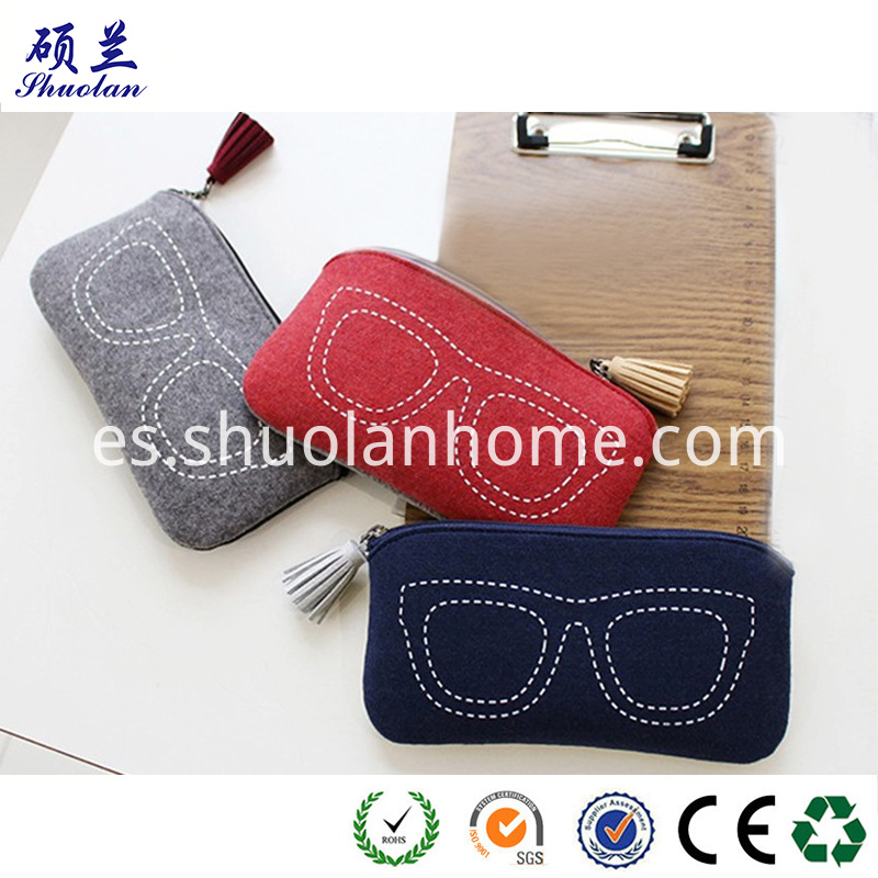 High Quality Felt Glasses Bag