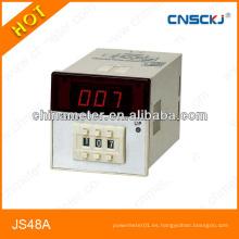 Relé de tiempo de pantalla digital JS48A Relé de conteo de 48 * 48 mm
