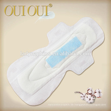 Heißer Verkauf ultra weiche atmungsaktive Anion Streifen Maxi regelmäßige Damenbinden für Frauen