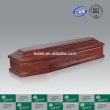 Noyer Formaldeide cercueil plaqué papier & cercueil en Chine