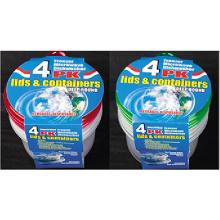 Recipiente de plástico redondo para levar para uso em microondas 31oz