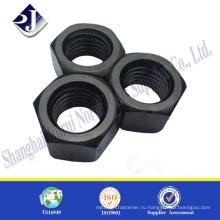 Черная шестигранная гайка шестигранной гайки 5-го шага Astm A194 2H NUT