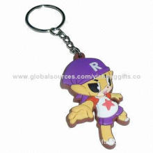3D rubber cat keychain, various shape and size, environment-friendly, good idea for promotion gifts