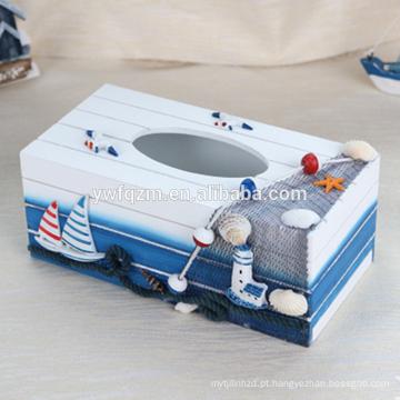 caixa de armazenamento de papel de madeira delicada e bonita