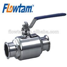 Fornecedor quente da porcelana do fornecedor válvula de esfera 1/4 de aço inoxidável sanitária