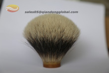 Big shaving brush knot made by badger hair