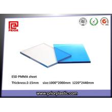 China Lieferant ESD Acryl PMMA Blatt mit guten mechanischen
