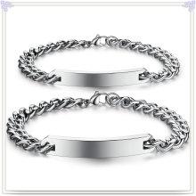 Modeschmuck ID Armband Edelstahl Armband (HR297)