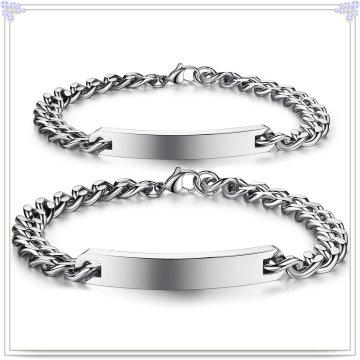 Fashion Jewelry ID Bracelet Stainless Steel Bracelet (HR297)