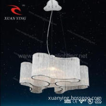 Modern glass tube hanging lamps with E14 socket