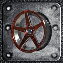 17 inch black painted inner groove alloy car wheel