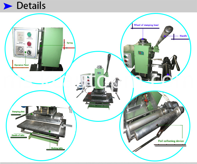 Manual Bronzing Machine for Cards