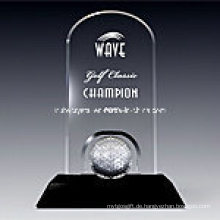 Golf Classic Plaque Award in Schwarz Base1009