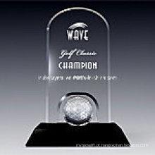 Prêmio de placa de golfe clássico em preto Base1009