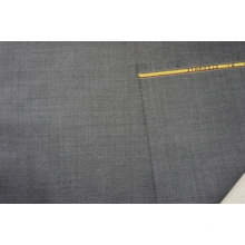 Plain Weave Wool Fabric Gry for Suit