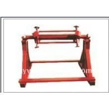 Machine à uncoiler manuel de feuille de métal de QJ 6 tonnes