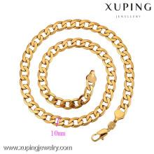 42212-Xuping joyería de moda simple oro para hombre collar