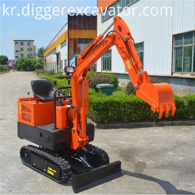 mini excavator rotating wood stone grapple